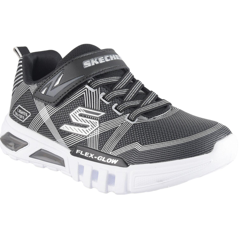 Skechers Flex-Glow Negro / blanco Walking