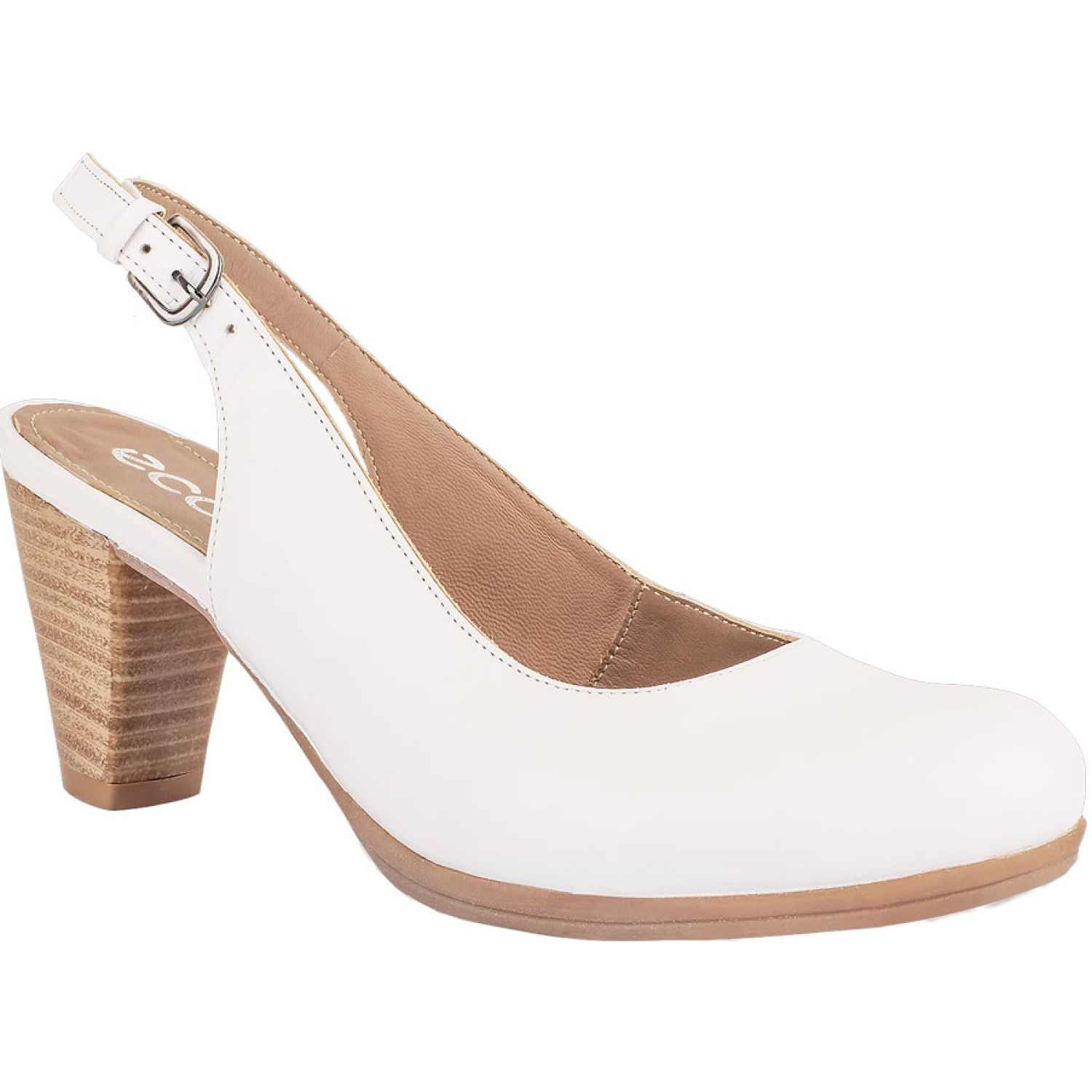 Ecco dalila33 Blanco Estiletos y Pumps