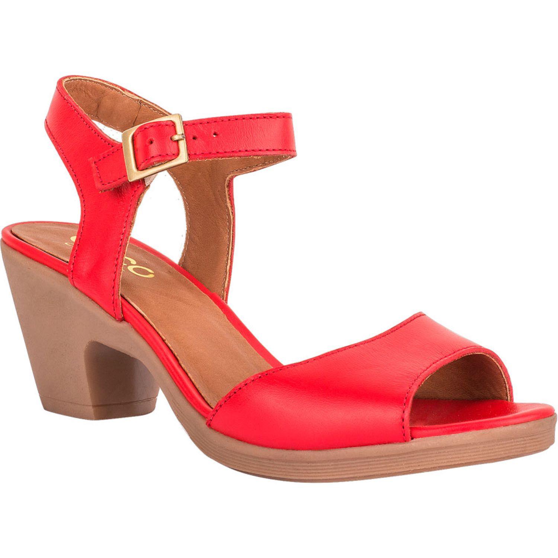 Ecco Natalie33 Rojo Sandalias con Taco