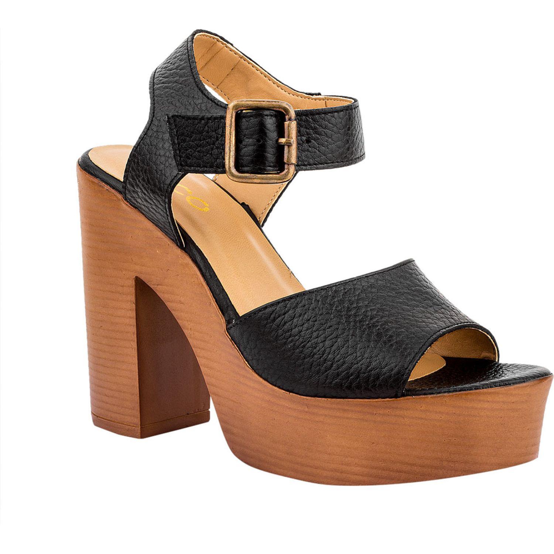 Ecco Zara01 Negro Sandalias con taco