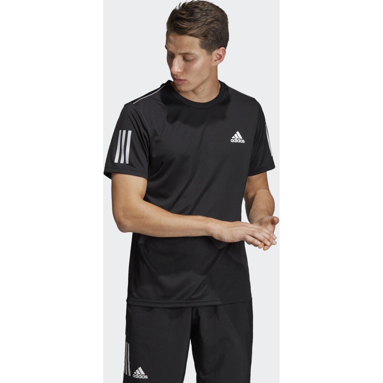 Adidas Club 3str Tee Negro / blanco Camisetas y Polos Deportivos