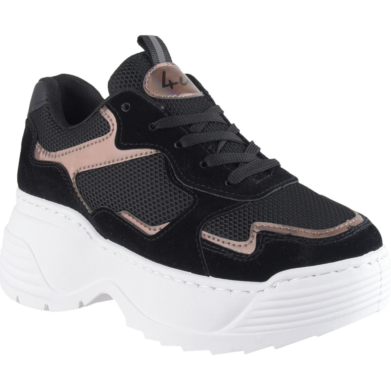 Platanitos Z 4122 Negro Zapatillas de moda