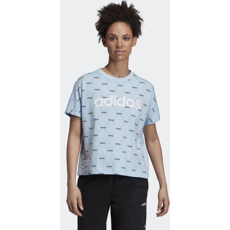 Adidas w core fav t Celeste / negro Polos