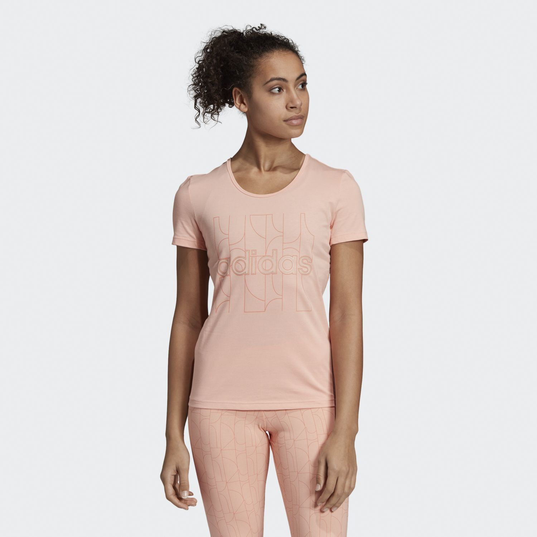 Adidas W MO Pr T-Shirt Rosado Polos