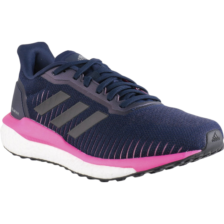 Adidas solar drive 19 w Navy / Fucsia Running en pista
