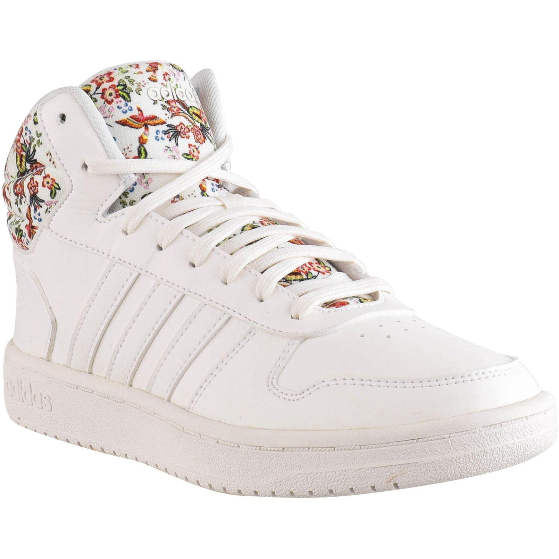 uvas cómo Crudo  Adidas Hoops 2.0 Mid BLANCO / VARIOS Mujeres   platanitos.com