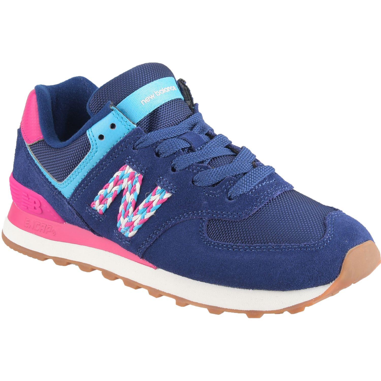 New Balance 574 Azul / fucsia Walking