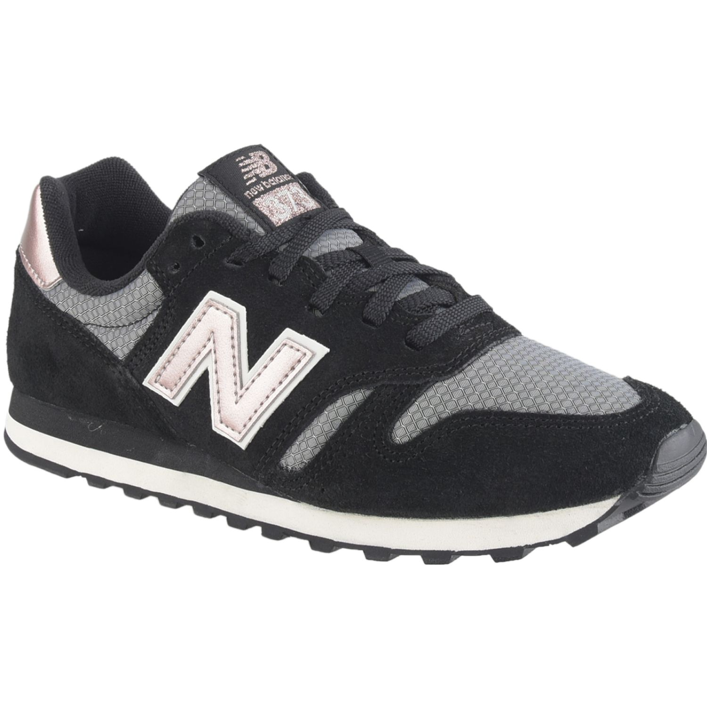 New Balance 373 Negro / rosado Walking