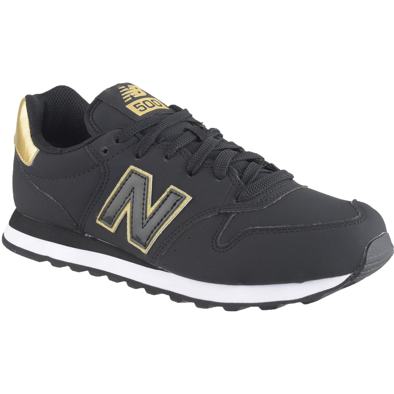 New Balance 500 Negro / dorado Walking | platanitos.com