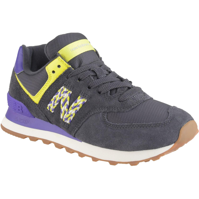 New Balance 574 Negro / morado Walking