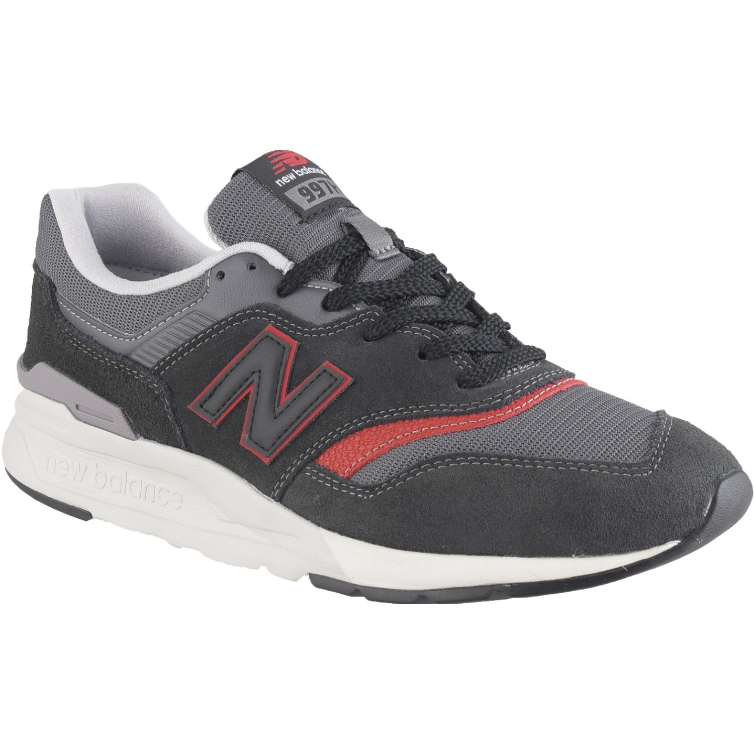 New Balance 997 Negro / rojo Walking