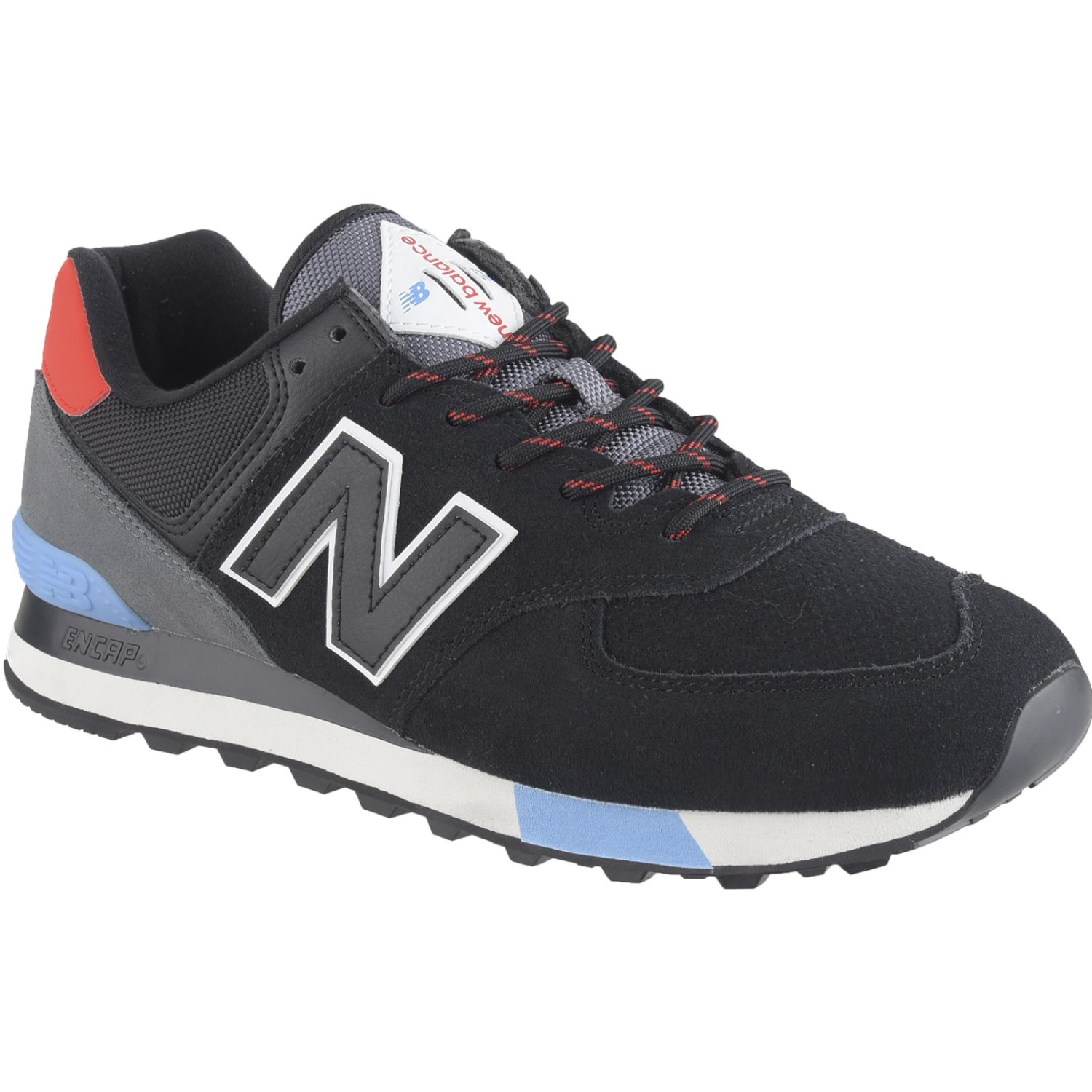 New Balance 574 Negro / plomo Walking