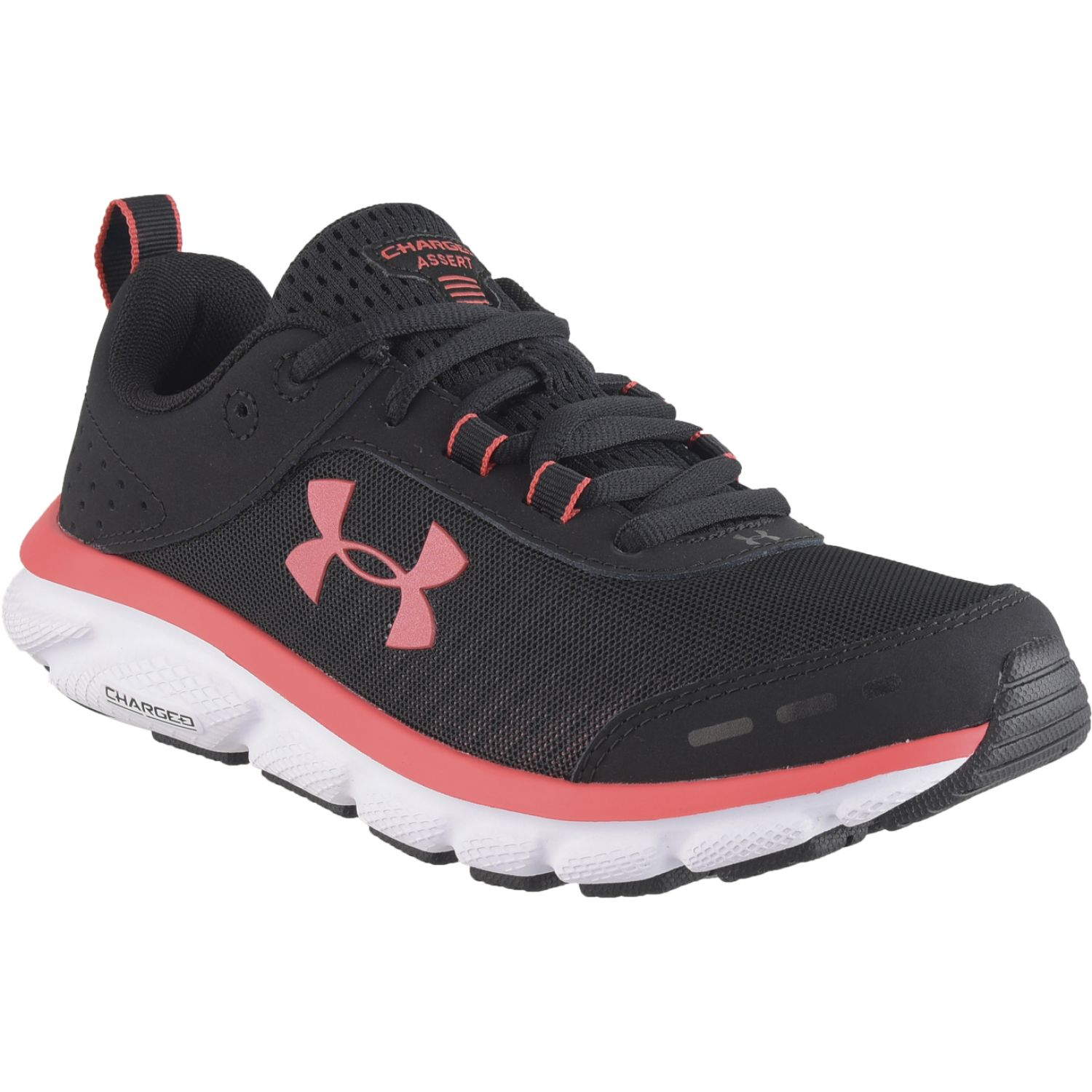 Under Armour Ua W Charged Assert 8 Negro / coral Trail Running