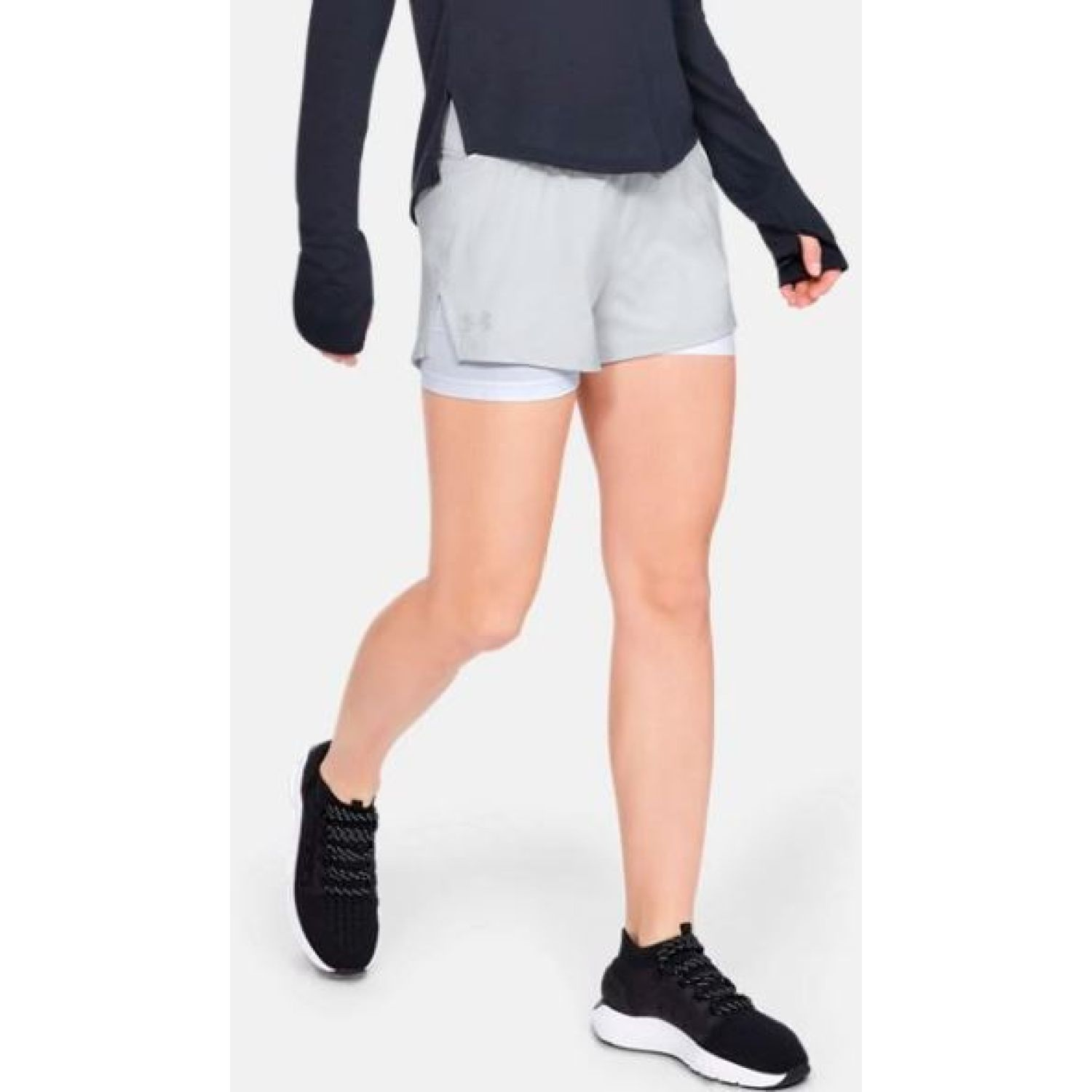 Under Armour ua launch sw 2-in-1 short Gris Shorts Deportivos