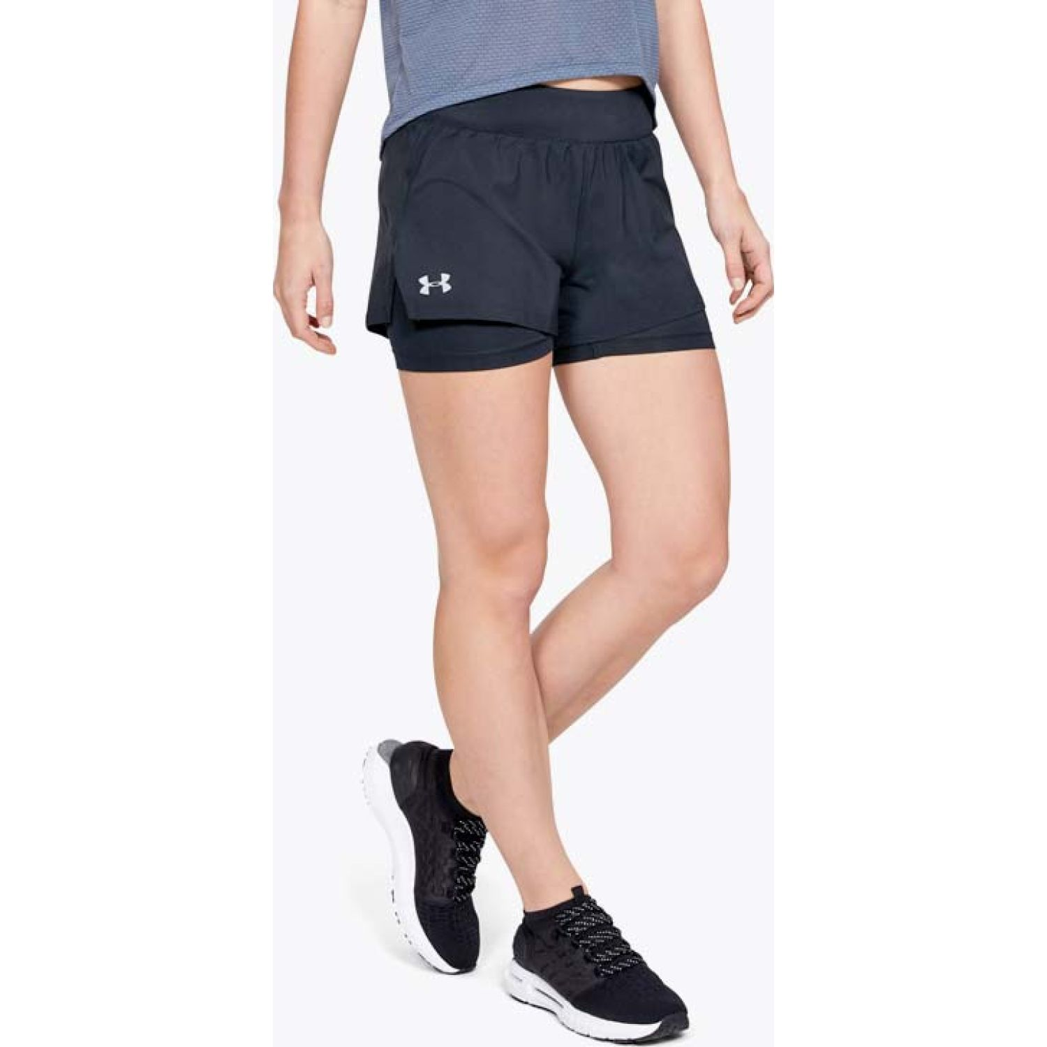 Under Armour ua launch sw 2-in-1 short Negro Shorts Deportivos