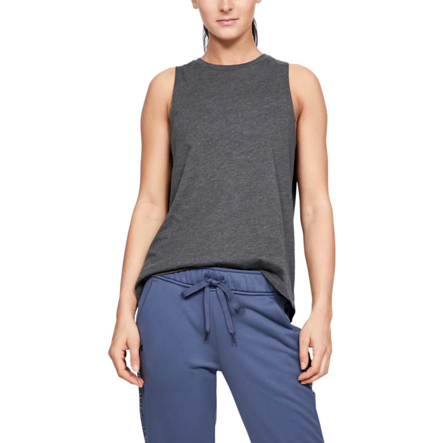 Under Armour Graphic Fashion Flow Tank Plomo Tank Tops
