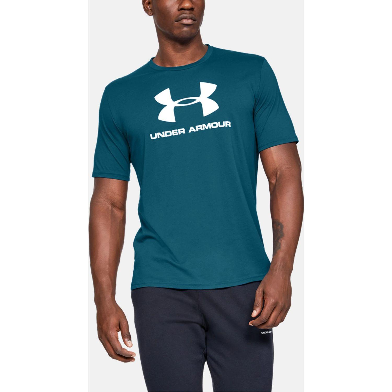 Under Armour Sportstyle Logo Ss Azul Camisetas y Polos Deportivos