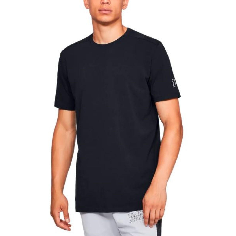 Under Armour Ua Baseline Ss Long Line Tee Negro Camisetas y Polos Deportivos