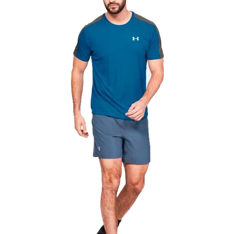 Under Armour Ua Speed Stride Shortsleeve AZUL / PLOMO Camisetas y Polos Deportivos