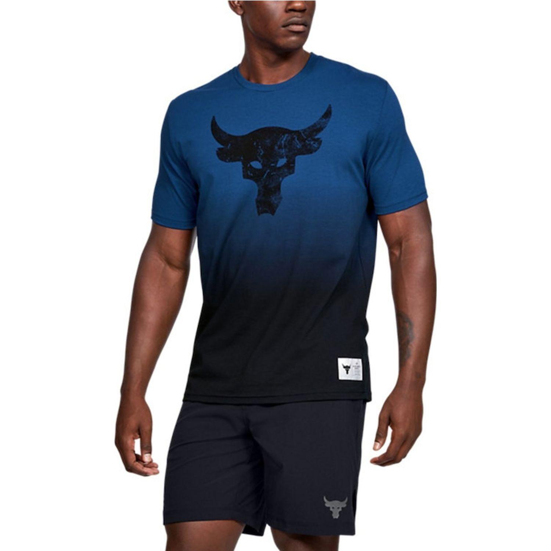 Under Armour Project Rock Bull Graphic Ss Azul Camisetas y Polos Deportivos