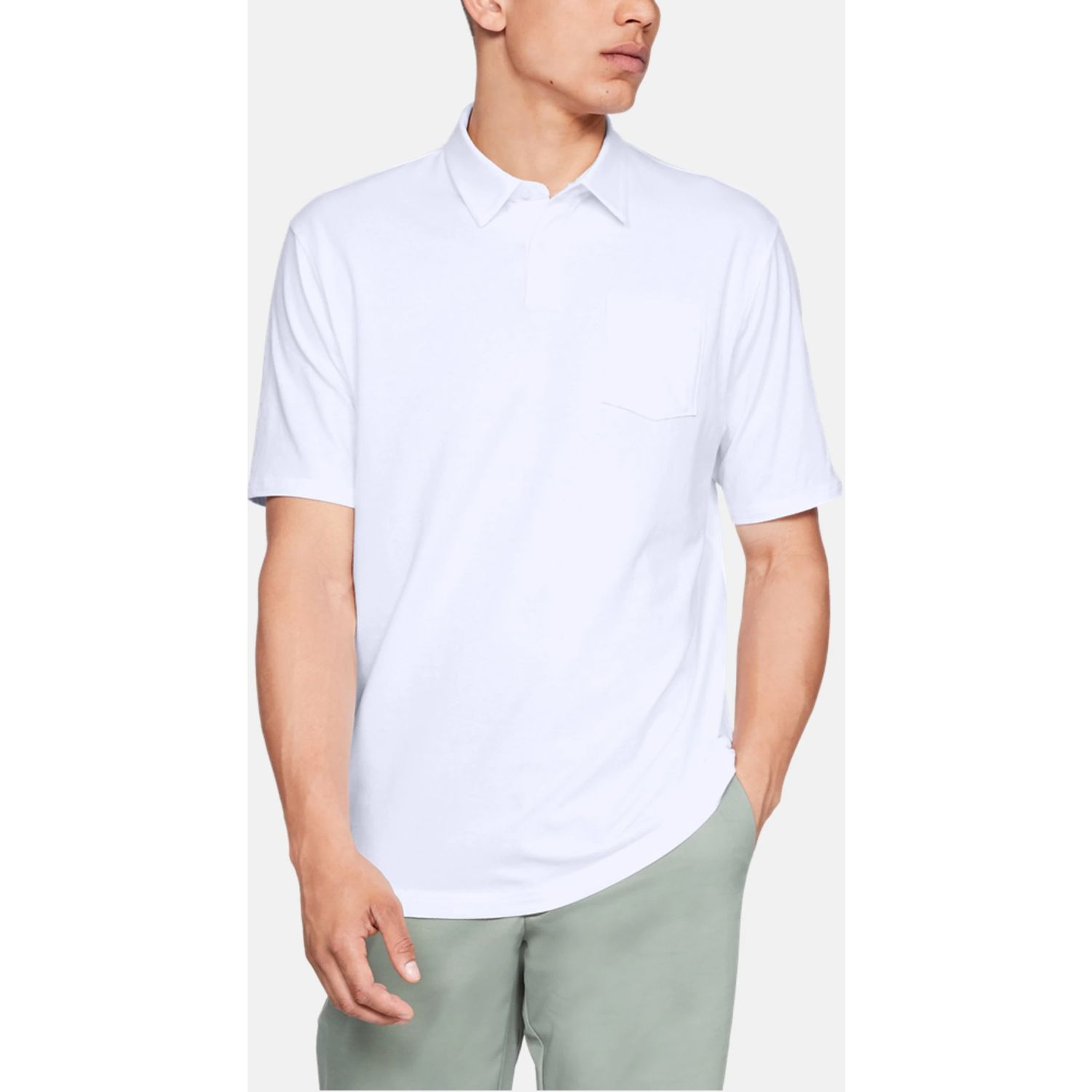 Under Armour CC Scramble Polo Blanco Camisas de polo