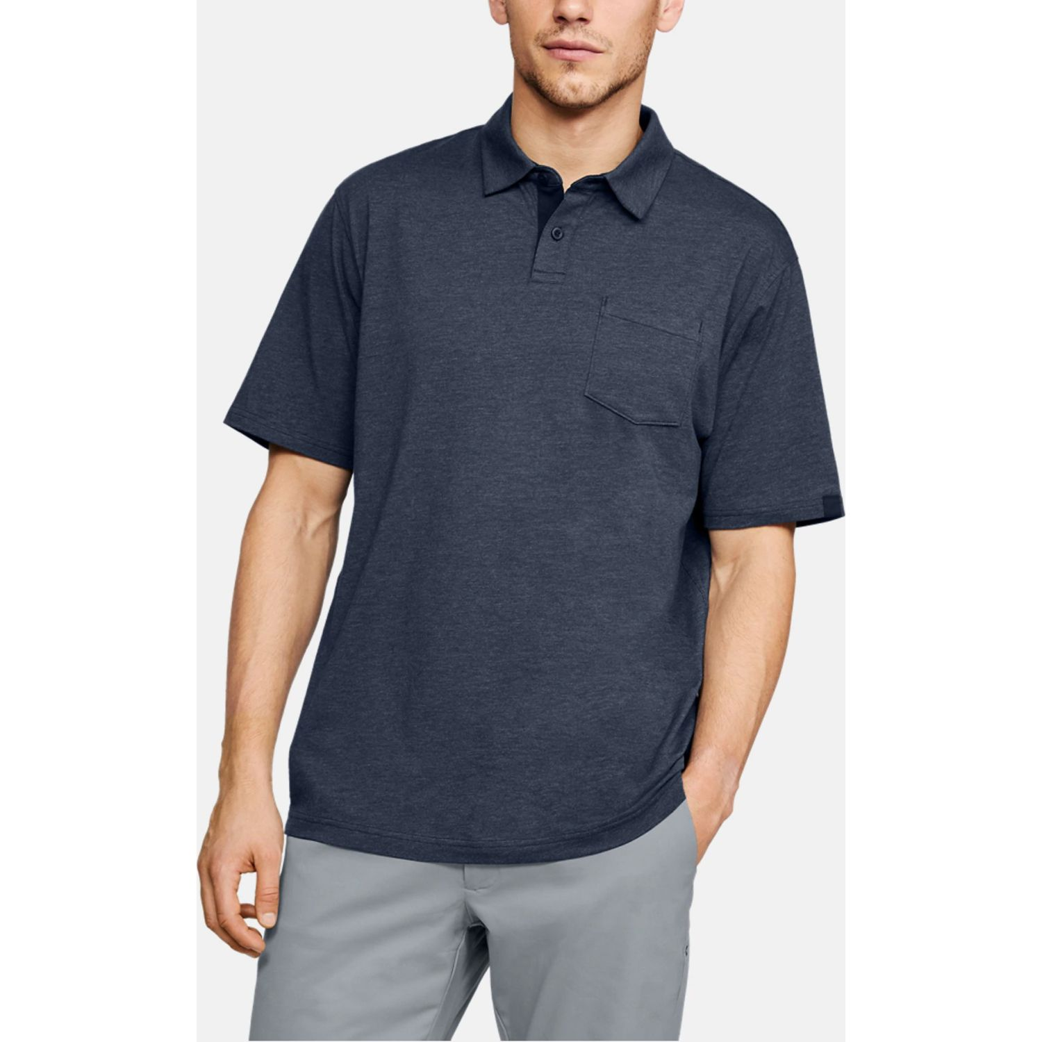Under Armour CC Scramble Polo Navy Camisas de polo