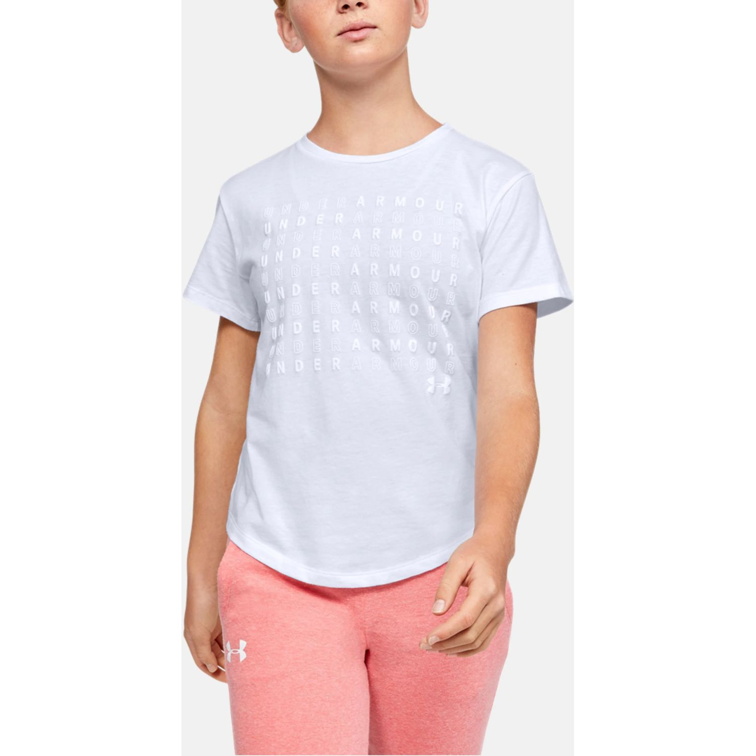Under Armour Branded Repeat SS Blanco Polos