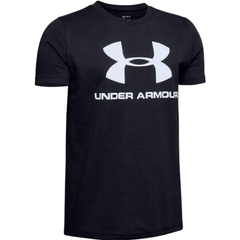 Under Armour Sportstyle Logo Ss Negro / blanco Camisetas y polos deportivos