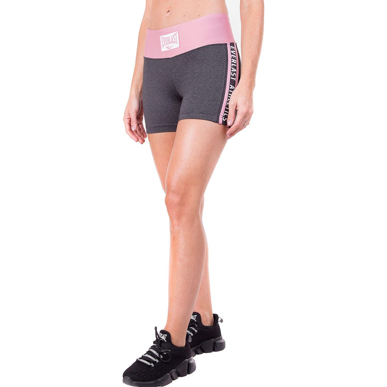 Everlast legging short ray Plomo / rosado Shorts Deportivos