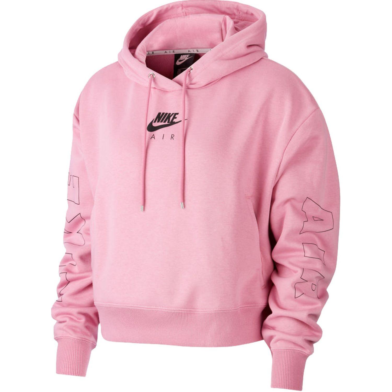 Nike W Nsw Air Hoodie Flc Bb Rosado Hoodies deportivos
