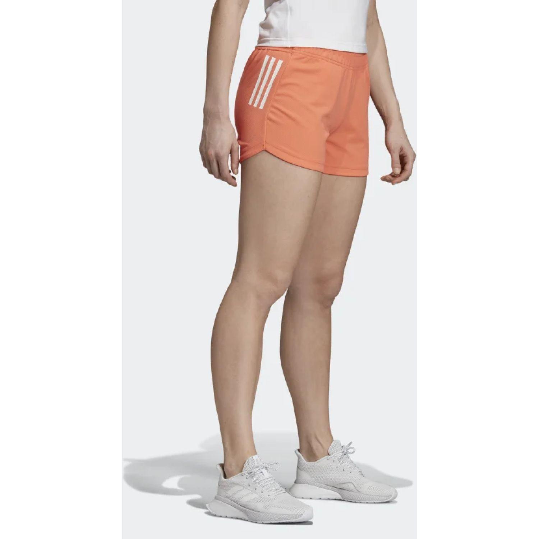 Adidas w d2m 3s kt sht Naranja / blanco Shorts Deportivos
