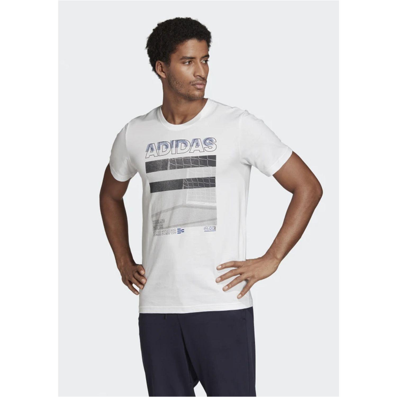 Adidas Mh Photo Tee Blanco / gris Camisetas y polos deportivos