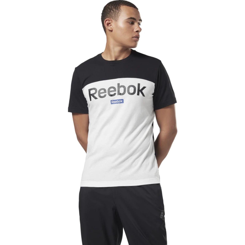 Reebok te bl ss tee Blanco / negro Camisetas y Polos Deportivos