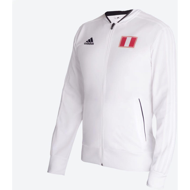 Adidas ca2019 peru jacket Blanco / negro Sweatshirts Deportivos