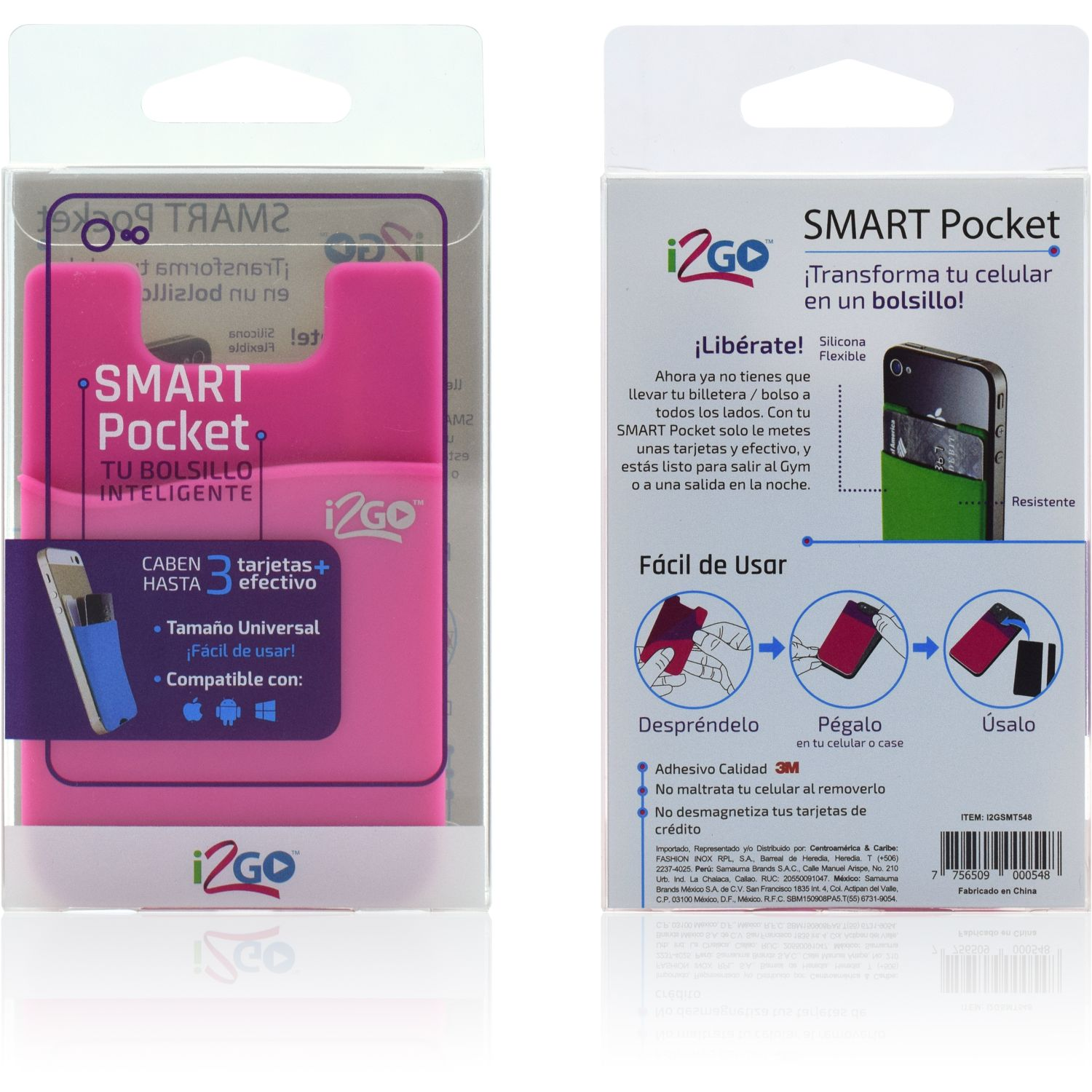 I2go smart pocket Rosado Soportes