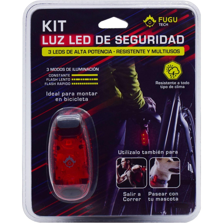 Fugu luz led de seguridad Rojo de uniones de cable