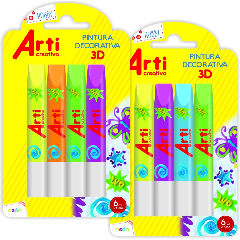 Arti Creativo Pintura Decorativa 3d Neon Varios Pegamento en barra y lápices