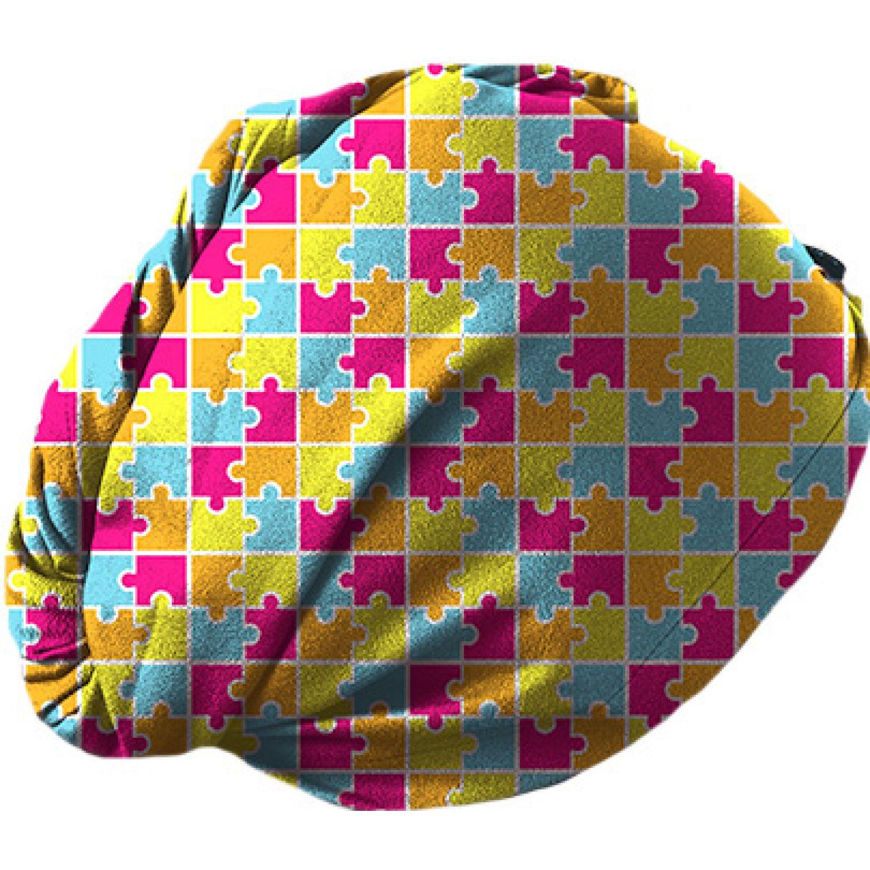 TOWELTEC Turbante Niña Puzzle Varios Toallas para secar cabello