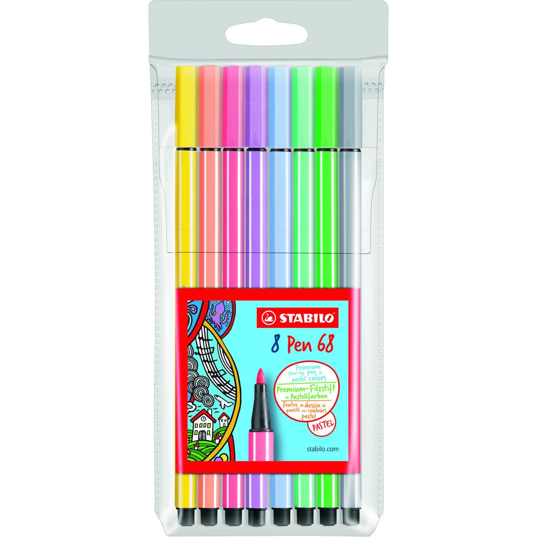 Stabilo Pen 68 Colores Pastel X 8 Und Varios Lapiceros