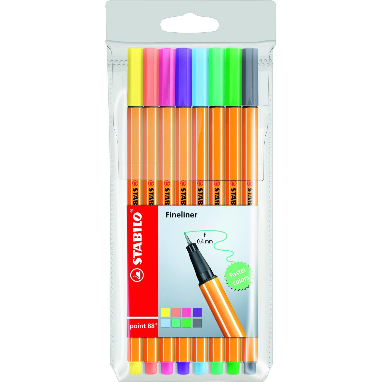 Stabilo Point 88 Colores Pastel X 8 Und Varios Lapiceros