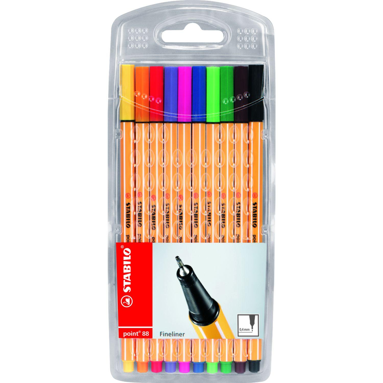 Stabilo Point 88 Colores Básicos X 10 Und Varios Lapiceros