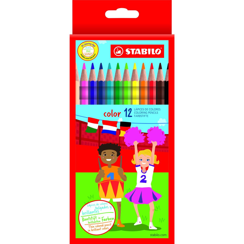 Stabilo Colores Hexagonales X12 Unid Varios Crayolas