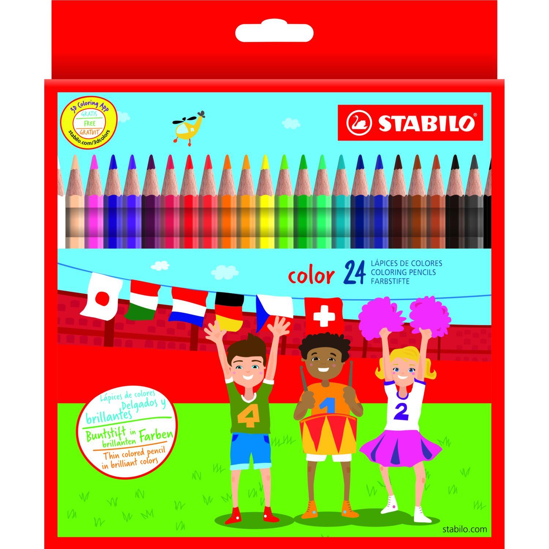 Stabilo Colores Hexagonales X24 Unid Varios Crayolas