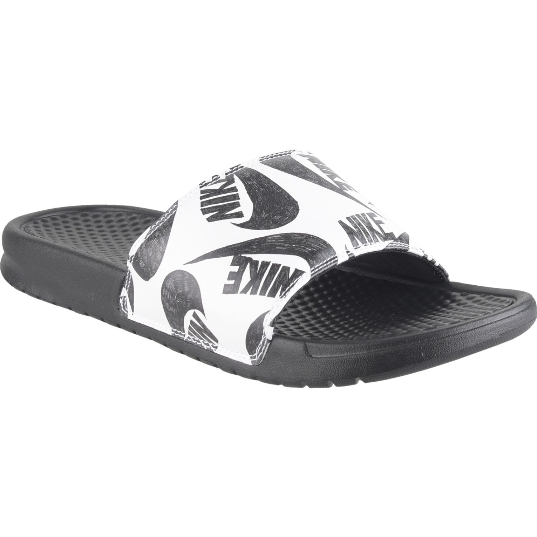Nike benassi jdi print Negro / blanco Sandalias deportivas y slides
