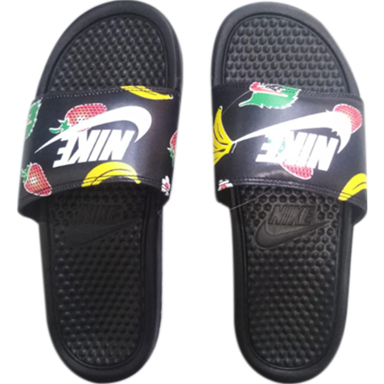 Nike wmns benassi jdi print Negro Sandalias deportivas y slides