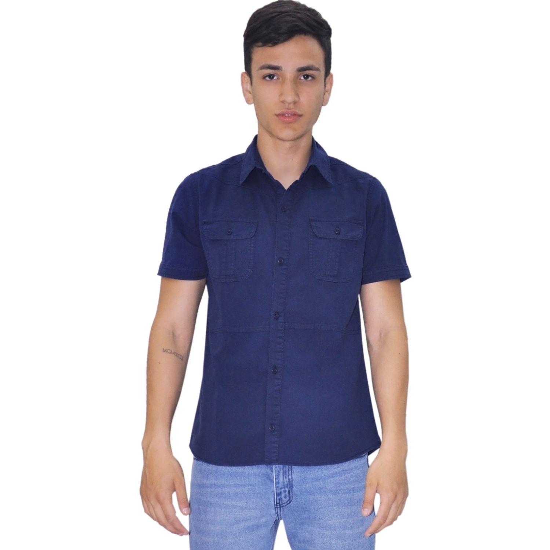 COTTONS JEANS Yober Azul Camisas de botones