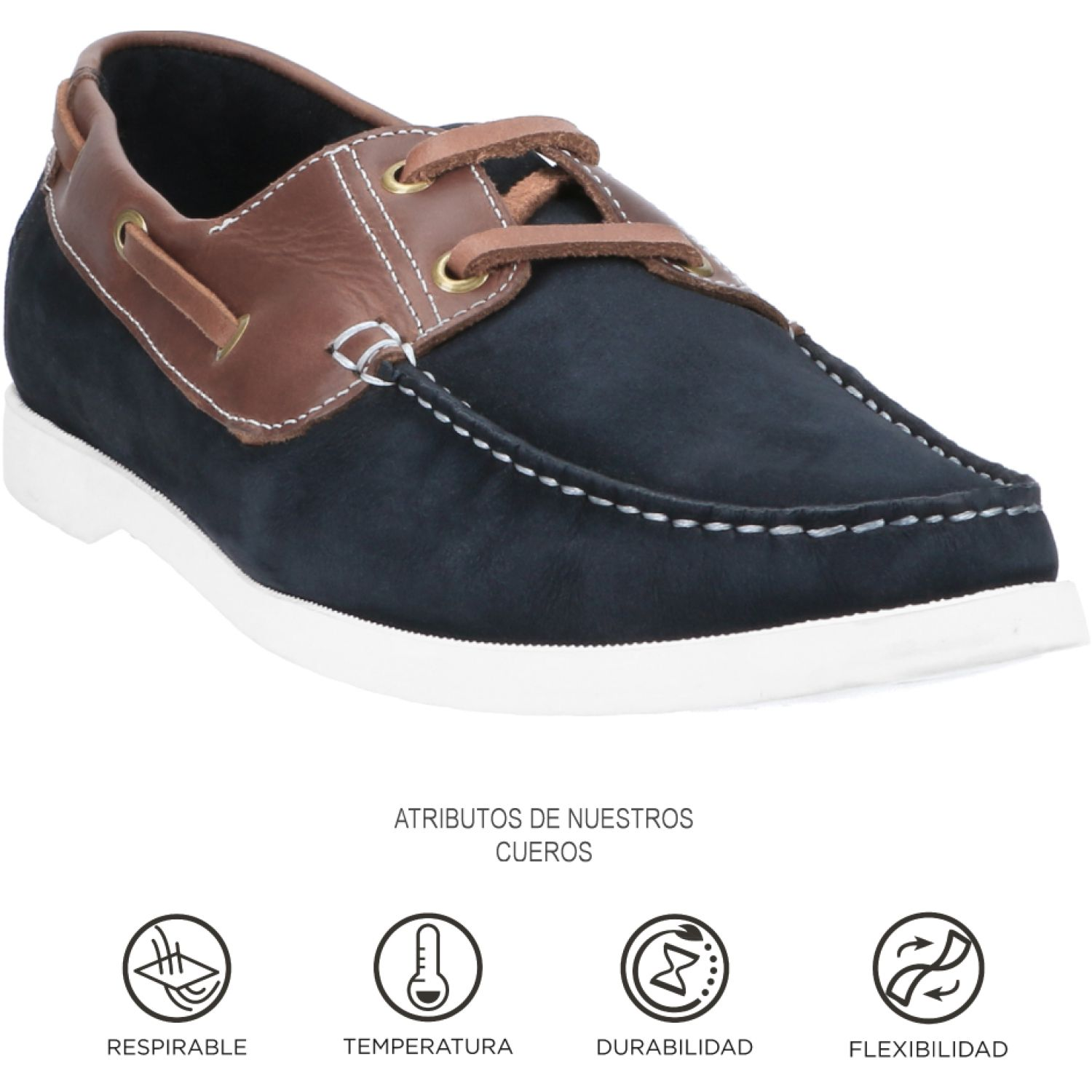 GUANTE Marina Azul / marrón Oxfords
