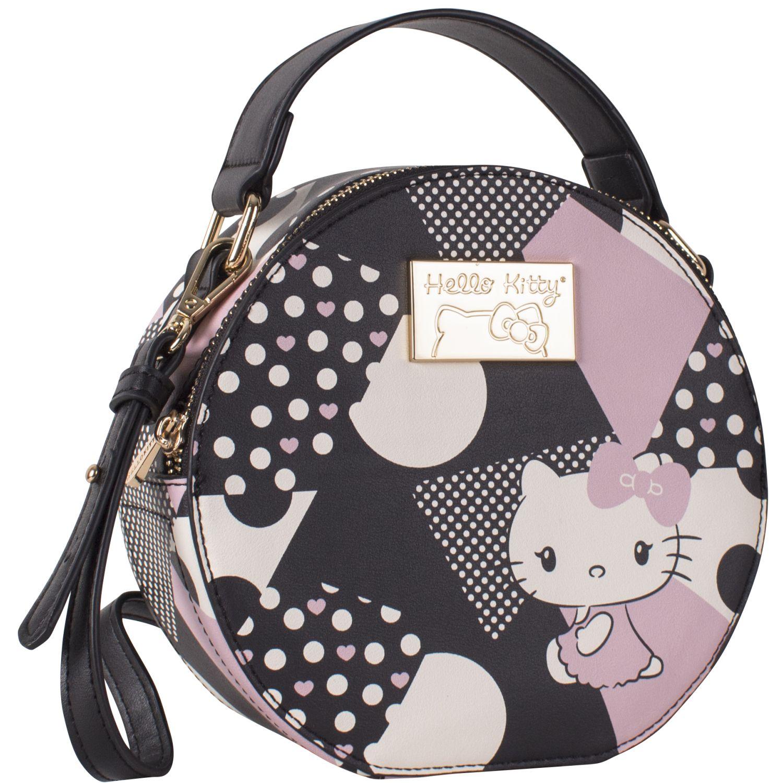 Hello Kitty kitty 1217 Negro Carteras con Asa