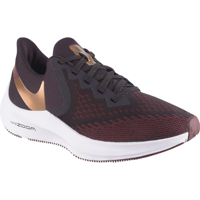 Nike wmns nike zoom winflo 6 NEGRO / BURGUNDY Running en pista