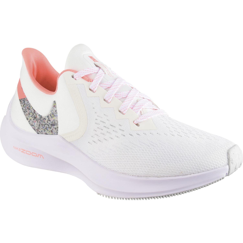 Nike wmns nike zoom winflo 6 Blanco / naranja Running en pista